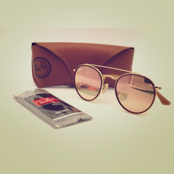 Ray-Ban Accessories   Ray Ban Round Double Bridge Rb3647n Copper ... 24bf806850